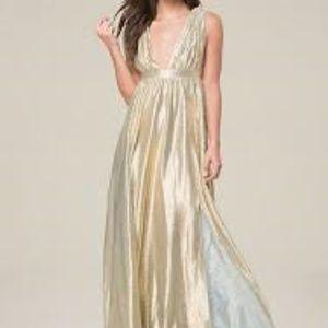bebe matalic  gown